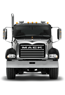 Front of Mack Granite Truck - New Semi Truck